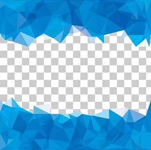 Blue Polygon Abstraction PNG