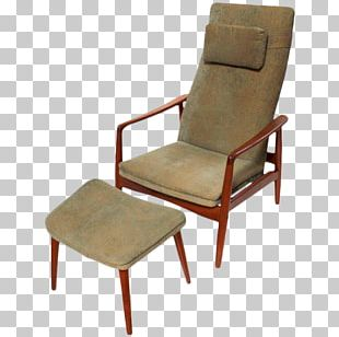 Eames Lounge Chair Recliner Danish Modern Couch PNG