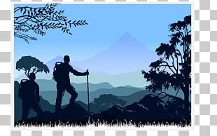 Mountaineering Silhouette Backpacking PNG