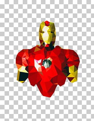 Captain America Iron Man Hulk Polygon Hero PNG