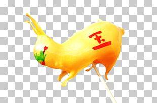 Yellow Beak Tail Font PNG