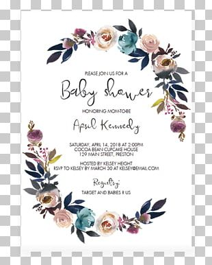 Wedding Invitation Baby Shower Party Convite Child PNG