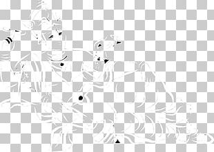 Carnivora Line Art White Character Sketch PNG