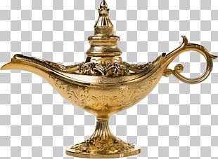 Genie Aladdin Light Oil Lamp Stock Photography PNG