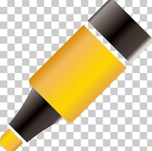 Yellow Cartoon Colored Pencil PNG