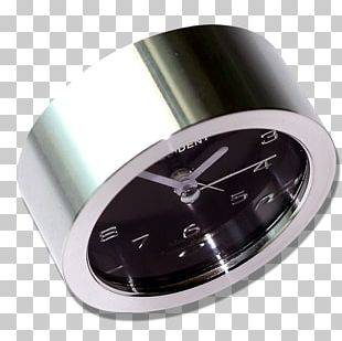 Table Alarm Clock Silver PNG
