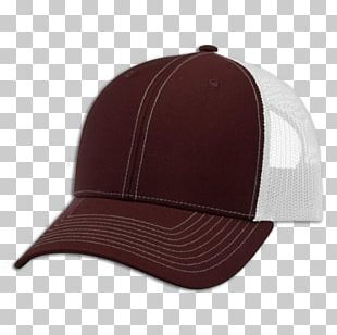 Baseball Cap Trucker Hat Maroon Product Design PNG