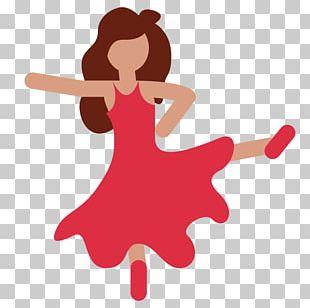 Dancing Emoji Woman Dancing Dance Android PNG