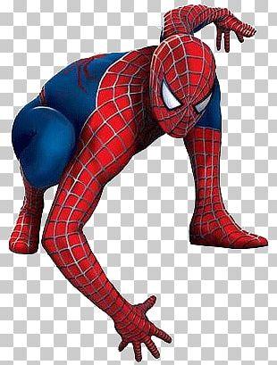 Spiderman Kneeling PNG