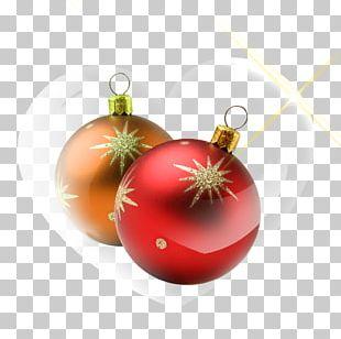 Christmas Ornament Yellow Ball PNG