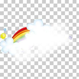 Rainbow Cloud Iridescence PNG