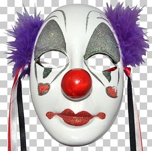 Clown Mask Joker Masquerade Ball Face PNG