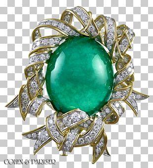 Jewellery Gemstone Brooch Emerald Gold PNG