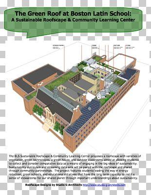 Green Roof Boston Latin School Classroom PNG