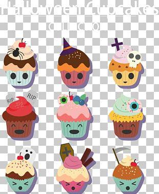 Cupcake Birthday Cake Halloween PNG