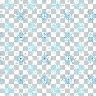 Snowflake Watercolor Painting Pattern PNG