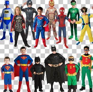 Batman Robin Superman Superhero Costume Party PNG