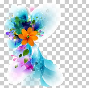 Color Flower Pattern PNG
