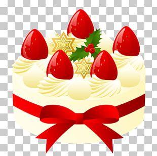 Fruitcake Christmas Cake Shortcake Cream PNG