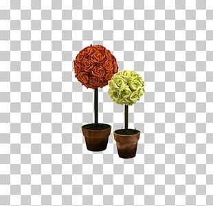 Beach Rose Paper Flower Garden Roses Topiary PNG