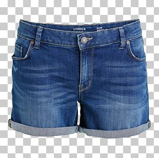 Jeans Denim Bermuda Shorts PNG