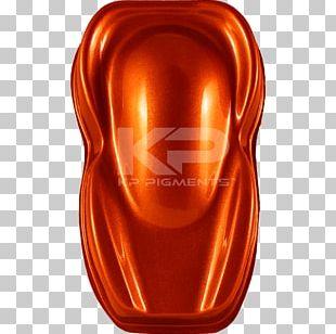 Orange Pigment Paint Gold Color PNG