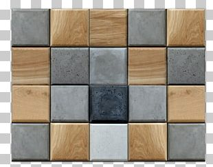 Concrete Wood Stain Material Square PNG