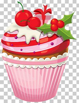 Cupcake Christmas Cake Birthday Cake Christmas Pudding Chocolate Pudding PNG