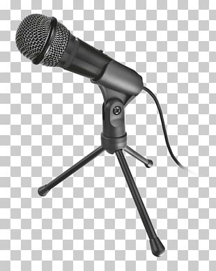 Microphone Stands Trust Starzz PC Microphone Trust GXT 210 Corded Stand Audio PNG