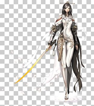 Blade & Soul Model Sheet Character Concept Art PNG