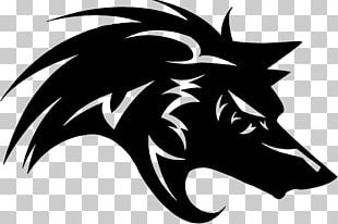 Gray Wolf Black Wolf Logo PNG