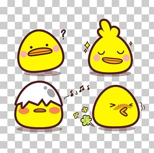 Chicken Cartoon Sticker PNG