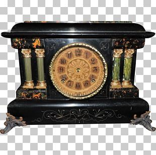 Fireplace Mantel Mantel Clock Antique Furniture PNG