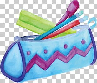 Watercolor Painting Pen & Pencil Cases PNG