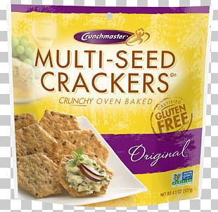 Crunch Master Gluten Free Multi-Seed Crackers Food Crunchmaster Original Multi-Seed Crackers Crunchmaster Multiseed Cracker PNG