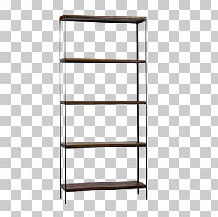 Shelf Bookcase Living Room Metal Furniture PNG