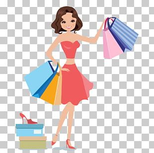 Shopping Woman Icon PNG