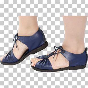 Sandal Shoe Cobalt Blue Clothing PNG