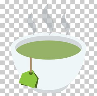 Emoji Green Tea Teacup Mug PNG