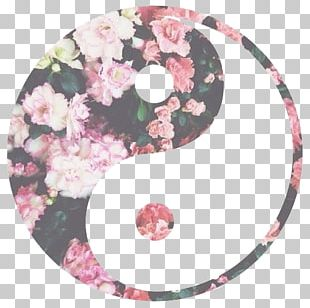 Yin And Yang Flower Symbol Desktop PNG