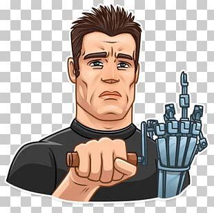 Arnold Schwarzenegger The Terminator Sticker Telegram YouTube PNG