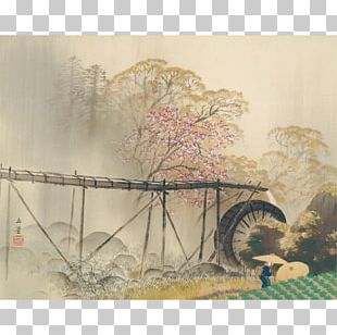 Adachi Museum Of Art Spring Drizzle Painting Nihonga PNG