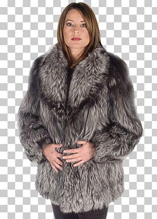 Fur Clothing Silver Fox Lynx Coat PNG