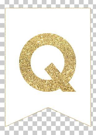 Letter Gold Printing Paper Banner PNG