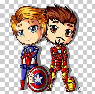 Captain America Iron Man YouTube Art Chibi PNG
