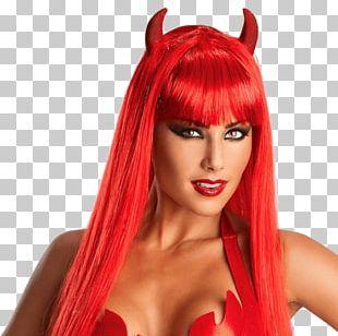 Wig Devil Costume Demon Satan PNG