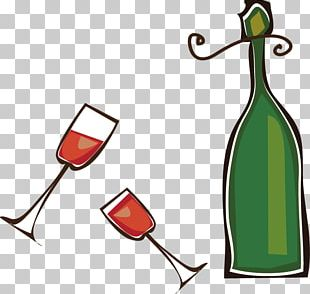 Red Wine Glass Bottle PNG