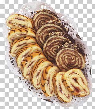 Cinnamon Roll Danish Pastry Sweet Roll Swiss Roll Croissant PNG