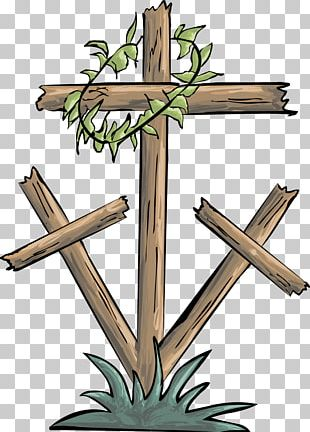 Good Friday Christian Cross Crown Of Thorns PNG