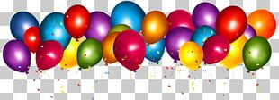 Balloon Confetti Party Gift Birthday PNG